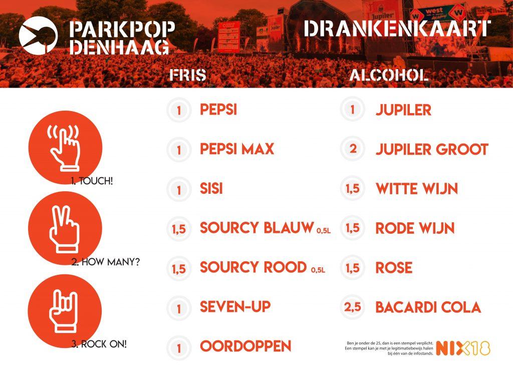 Festivalplacemat Parkpop