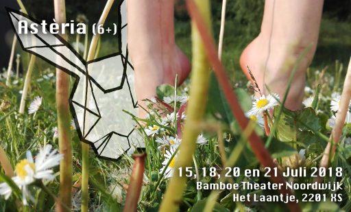 poster Asteria met tekst over datums van de voorstelling