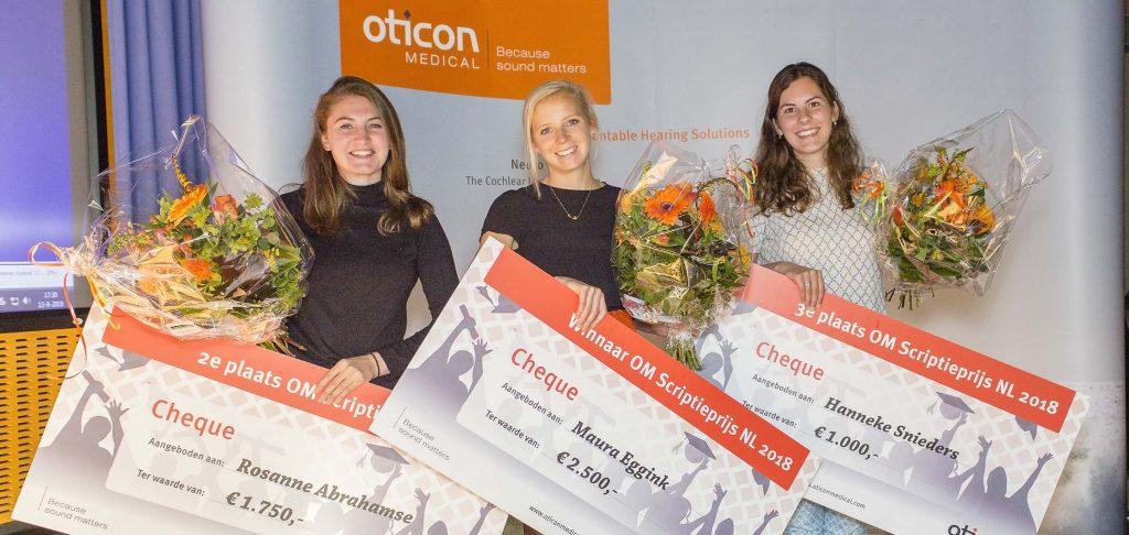 Winnaars scriptieprijs Oticon Medical 2018