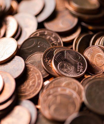 foto van geldmunten