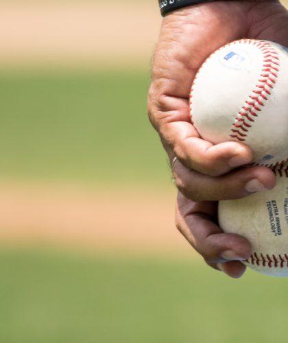 foto van een honkbalbal