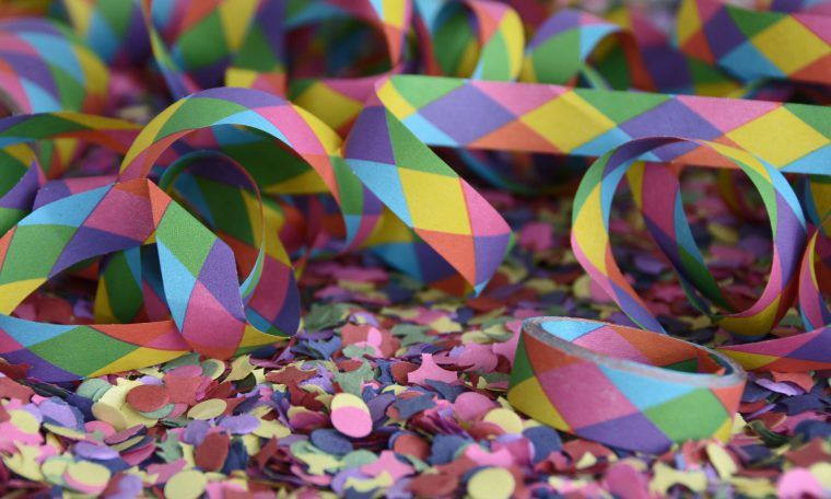 foto van confetti