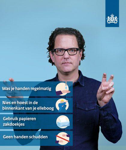 informatie coronavirus in gebarentaal