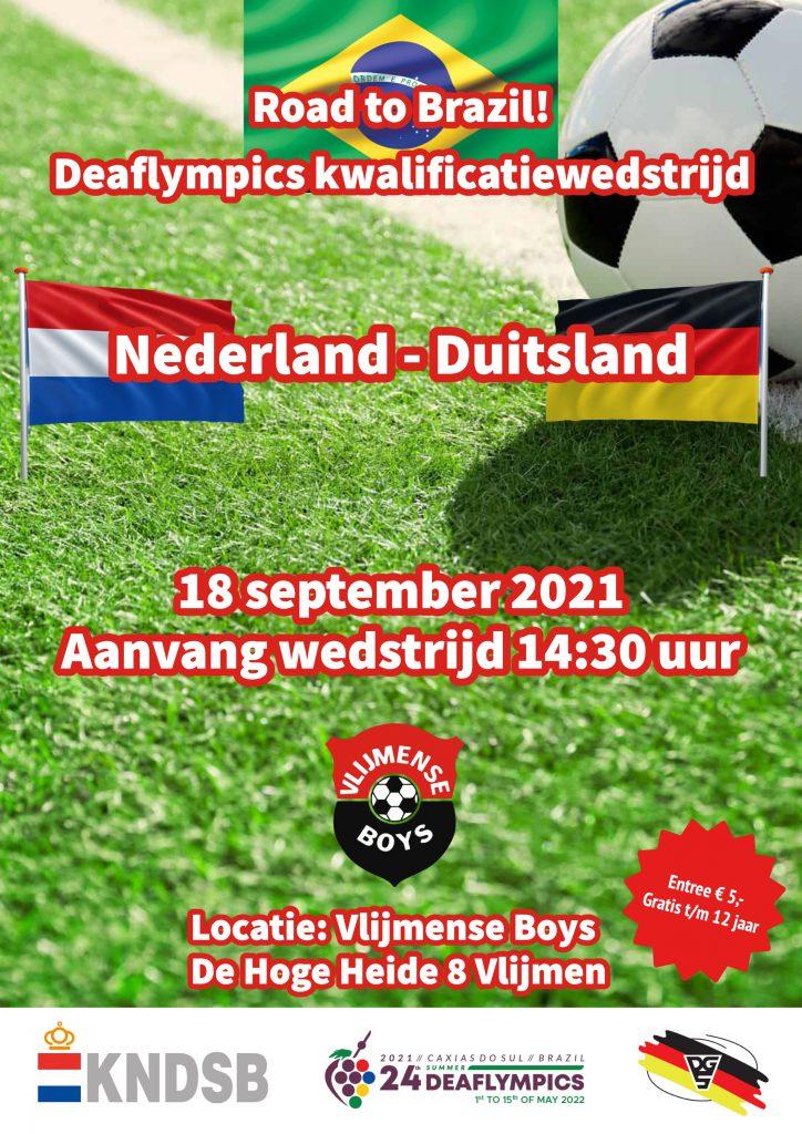 poster kwalificatiewedstrijd NDE Deaflympics