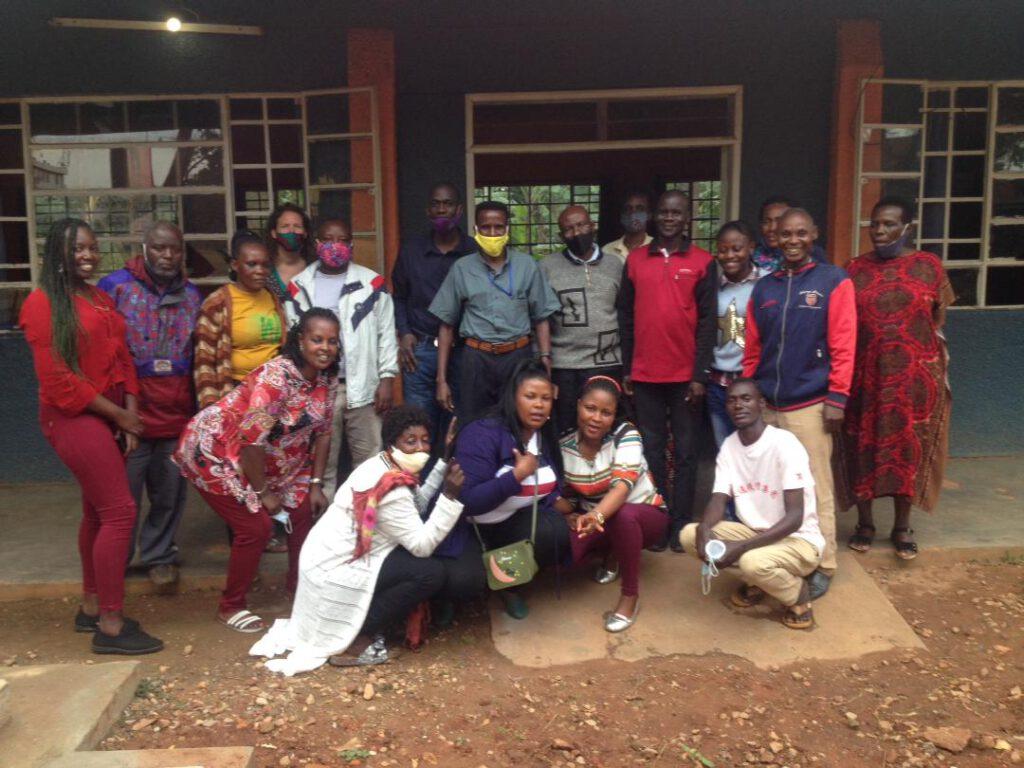 teamfoto van de school waar famke werkt